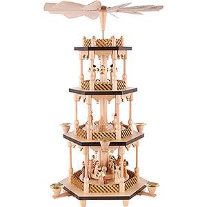 Weihnachtspyramiden 4-stöckige Pyramiden 4-stöckige Pyramide Christi Geburt - 54 cm
