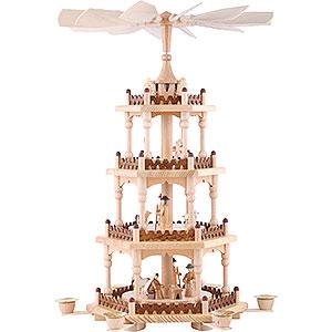 Weihnachtspyramiden 4-stöckige Pyramiden 4-stöckige Pyramide - Krippenszene - 51cm