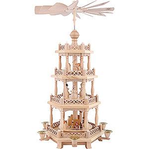 Christmas-Pyramids 4-tier Pyramids 4- tier Pyramid Baroque fence - 22 inch - 57 cm