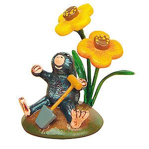 Kleine Figuren & Miniaturen Hubrig Blumenkinder 4er Set Herr Maulwurf - 3cm
