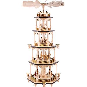 Christmas-Pyramids 5-tier Pyramids 5-Tier Pyramid - Nativity Scene - 70 cm / 27.5 inch