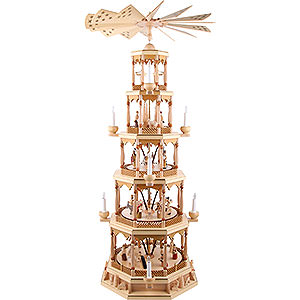 Christmas-Pyramids 5-tier Pyramids 5- tier Pyramid Nativity Scene - natural wood - 48 inch - 123 cm