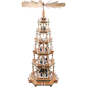 Weihnachtspyramiden 6-stöckige Pyramiden 6-stöckige Pyramide - Paradies - 106 cm