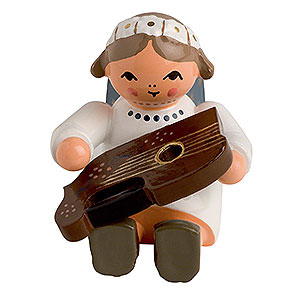 Angels Orchestra of Angels (KWO) Angel with Cittern Sitting - 4 cm / 2 inch