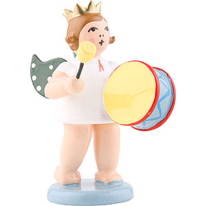 Angels Orchestra with crown (Ellmann) Angel with Crown and Large Drums - 6,5 cm / 2.5 inch