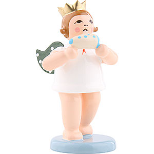 Angels Orchestra with crown (Ellmann) Angel with Crown and Ocarina - 6,5 cm / 2.5 inch