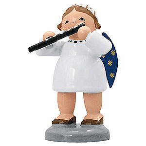 Angels Orchestra of Angels (KWO) Angel with Transverse Flute  - 5 cm / 2 inch