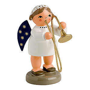 Angels Orchestra of Angels (KWO) Angel with Trombone - 5 cm / 2 inch