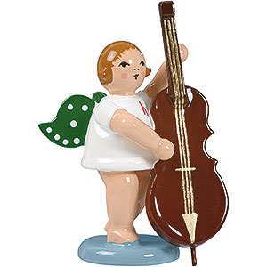 Angels Orchestra (Ellmann) Angel with contrabass - 6,5cm / 2.5inch