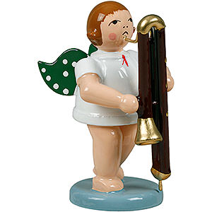 Angels Orchestra (Ellmann) Angel with contrabassoon - 6,5cm / 2.5inch