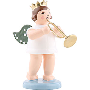 Angels Orchestra w/ crown (Ellmann) Angel with crown and jazz trumpet - 6,5cm / 2.5inch