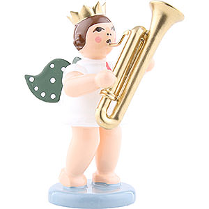 Angels Orchestra w/ crown (Ellmann) Angel with crown and sarrusophone - 6,5cm / 2.5inch
