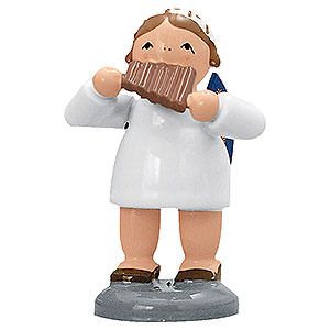 Angels Orchestra of Angels (KWO) Angel with pan flute  - 5 cm / 2 inch