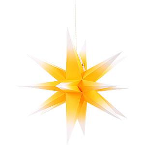 Adventssterne und Weihnachtssterne Annaberger Faltsterne Annaberger Faltstern gelb-weiß - 58 cm