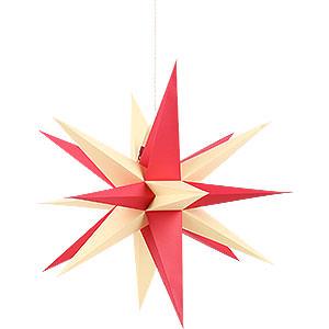 Adventssterne und Weihnachtssterne Annaberger Faltsterne Annaberger Faltstern mit orange-gelben Spitzen - 35cm
