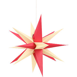 Adventssterne und Weihnachtssterne Annaberger Faltsterne Annaberger Faltstern mit rot-gelben Spitzen - 58cm