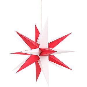 Adventssterne und Weihnachtssterne Annaberger Faltsterne Annaberger Faltstern mit rot-weißen Spitzen - 35 cm