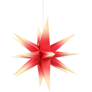 Adventssterne und Weihnachtssterne Annaberger Faltsterne Annaberger Faltstern rot-gelb - 35cm