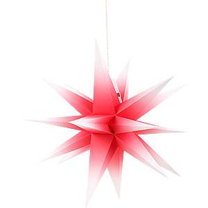 Adventssterne und Weihnachtssterne Annaberger Faltsterne Annaberger Faltstern rot-weiß - 35cm