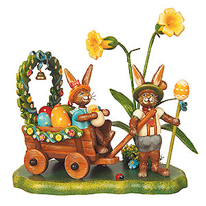 Kleine Figuren & Miniaturen Tiere Hasen Auf zur Frühlingswiese - 14cm
