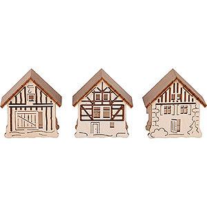 Schwibbögen Schwibbogen Zubehör Aufsteckhaus 3er-Set - 5,5x5 cm