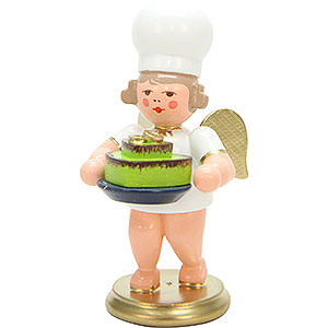 Weihnachtsengel Bäckerengel (Ulbricht) Bäckerengel mit Herztorte - 7,5 cm