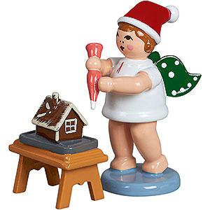 Weihnachtsengel Bäckerengel (Ellmann) Bäckerengel mit Mütze, Tortenspritze und Pfefferkuchen - 6,5 cm