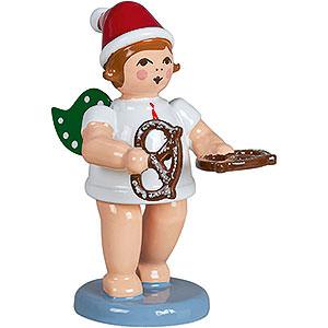 Weihnachtsengel Bäckerengel (Ellmann) Bäckerengel mit Mütze und Brezel - 6,5 cm