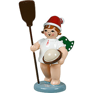 Weihnachtsengel Bäckerengel (Ellmann) Bäckerengel mit Mütze und Ofenschieber - 6,5 cm