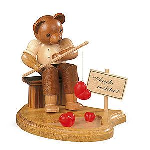 Kleine Figuren & Miniaturen Tiere Bären Bär Angler am Teich - 10cm