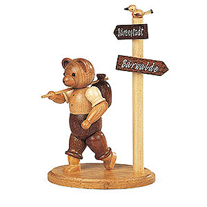 Kleine Figuren & Miniaturen Tiere Bären Bär Wanderer - 13 cm