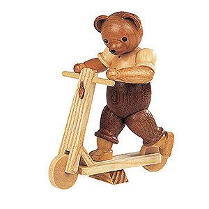 Kleine Figuren & Miniaturen Tiere Bären Bär auf Roller - 10cm