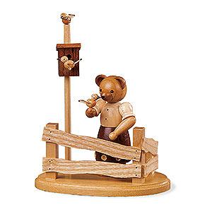 Kleine Figuren & Miniaturen Tiere Bären Bärenfrau am Gartenzaun - 13cm