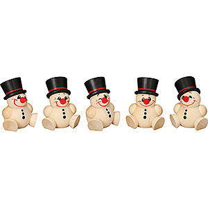 Small Figures & Ornaments Ball figures (Seiffener Vk.) Ball Figures Cool Man - 5-pcs - 4 cm / 2 inch