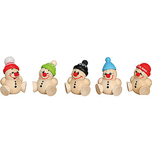 Small Figures & Ornaments Ball figures (Seiffener Vk.) Ball Figures Cool Man Junior - 5-pcs - 4 cm / 2 inch
