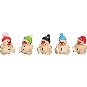 Small Figures & Ornaments Ball figures (Seiffener Vk.) Ball Figures Cool Man Junior - 5 pcs. - 4 cm / 2 inch