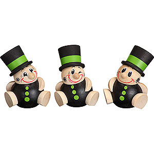 Small Figures & Ornaments Ball figures (Seiffener Vk.) Ball Figures Schorchy - 3-pcs- 6 cm / 2 inch