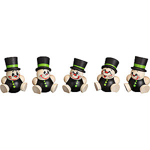 Small Figures & Ornaments Ball figures (Seiffener Vk.) Ball Figures Schorchy - 5-pcs - 4 cm / 2 inch