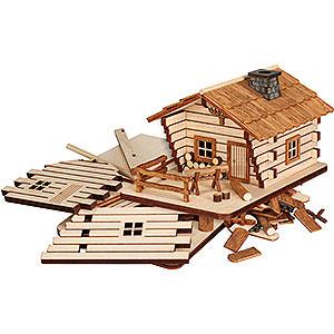 Räuchermänner Sonstige Figuren Bastelset Räucherhaus Blockhütte - 9cm
