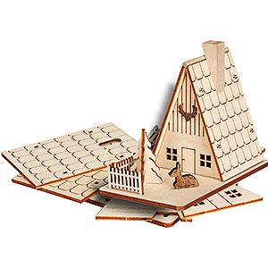 Räuchermänner Sonstige Figuren Bastelset Räucherhaus Forsthaus - 11cm