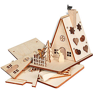 Räuchermänner Sonstige Figuren Bastelset Räucherhaus Hexenhaus - 11 cm