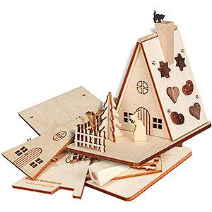 Räuchermänner Sonstige Figuren Bastelset Räucherhaus Hexenhaus - 11cm