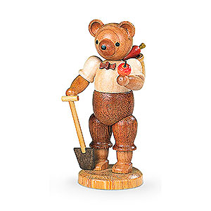 Small Figures & Ornaments Animals Bears Bear Gardener (male) - 10 cm / 4 inch