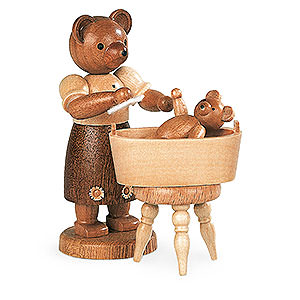 Small Figures & Ornaments Animals Bears Bear mother with child - 10 cm / 4 inch