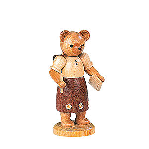 Small Figures & Ornaments Animals Bears Bear school girl  - 10 cm / 4 inch