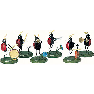 Small Figures & Ornaments Animals Beetles Beetle Band - 6 pcs - 3 cm / 1 inch