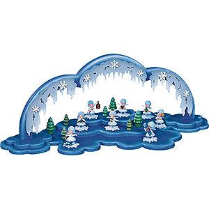 Kleine Figuren & Miniaturen Kuhnert Schneeflöckchen Beleuchteter Bogen, passend zu 81-43-020 - 60x23x13cm