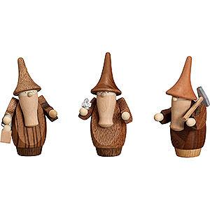 Kleine Figuren & Miniaturen alles Andere Berggnom, 3er Set - 8 cm