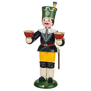 Weihnachtsengel Engel und Bergmann Bergmann mit Kerzen - 22cm