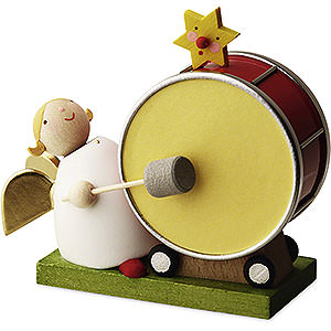 Angels Reichel Big Band Big Band guardian angel with large drum - 3,5cm / 1.3inch